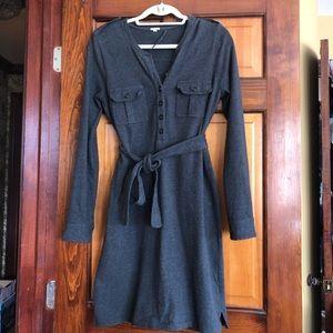 JCrew 100% cotton button dress SMALL